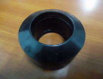 Airlock shaft rubber coupling